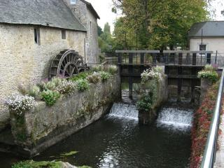 Watermill in the town of Bayeux